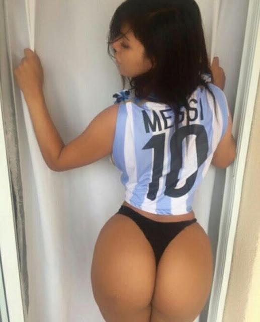 Στο πλευρό του Λίο Μέσι η miss Bum Bum 2015, Suzy Cortez