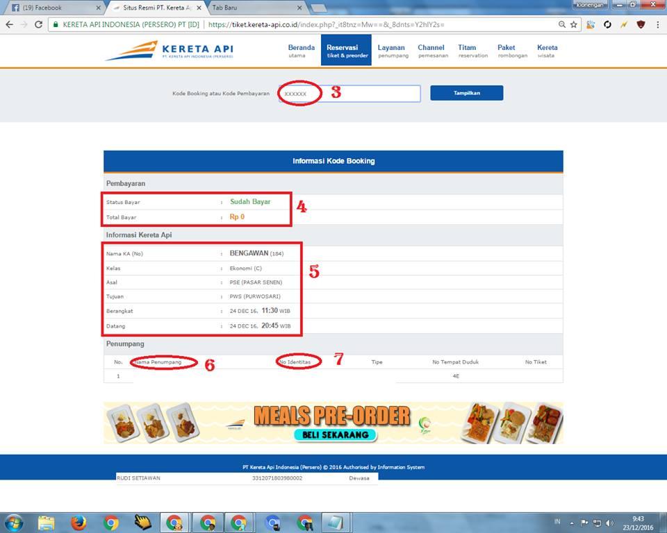 cara mudah cek kode booking kereta api informasi seputar kereta api rh agenonlinekereta blogspot com