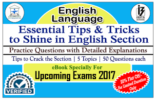 IPPB Exam 2017 - Essential Tips & Tricks to Shine in English Section along with Practice Questions with Explanation (Covered All Topics) eBook – Download in PDF