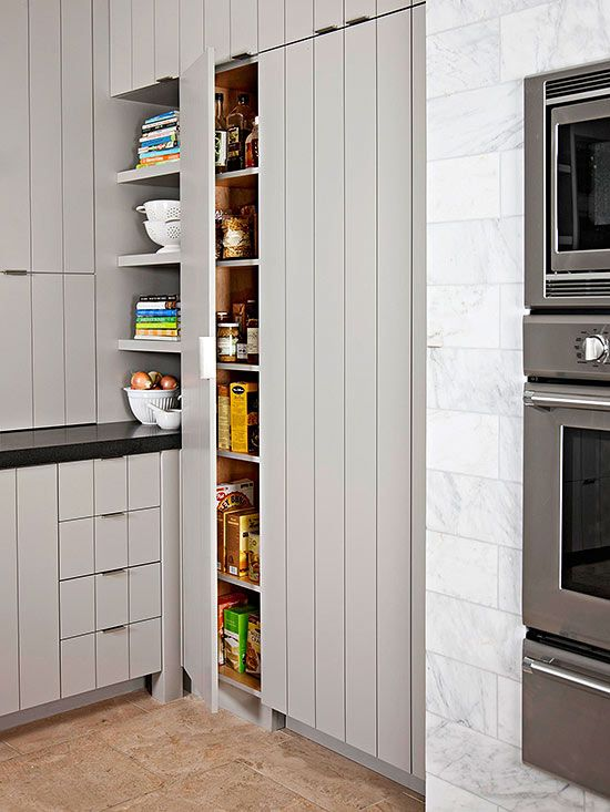 Modern Kitchen Small Pantry Shelving Designs - Decor Units