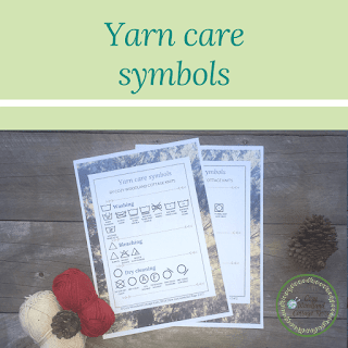 Picture of yarn care symbols