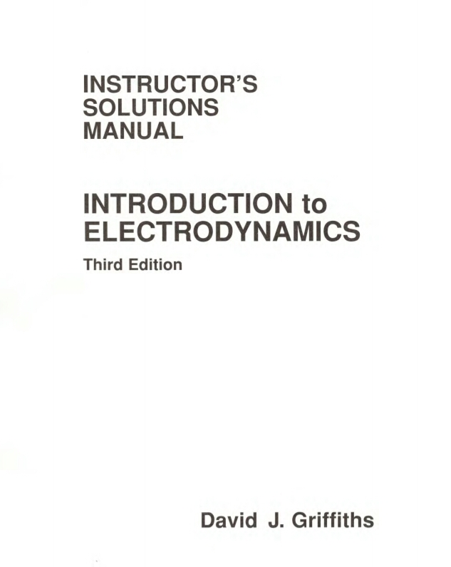 introduction to electrodynamics 4th edition solution manual pdf
