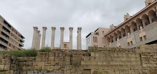 Templo Romano y restos de murallas de Córdoba.