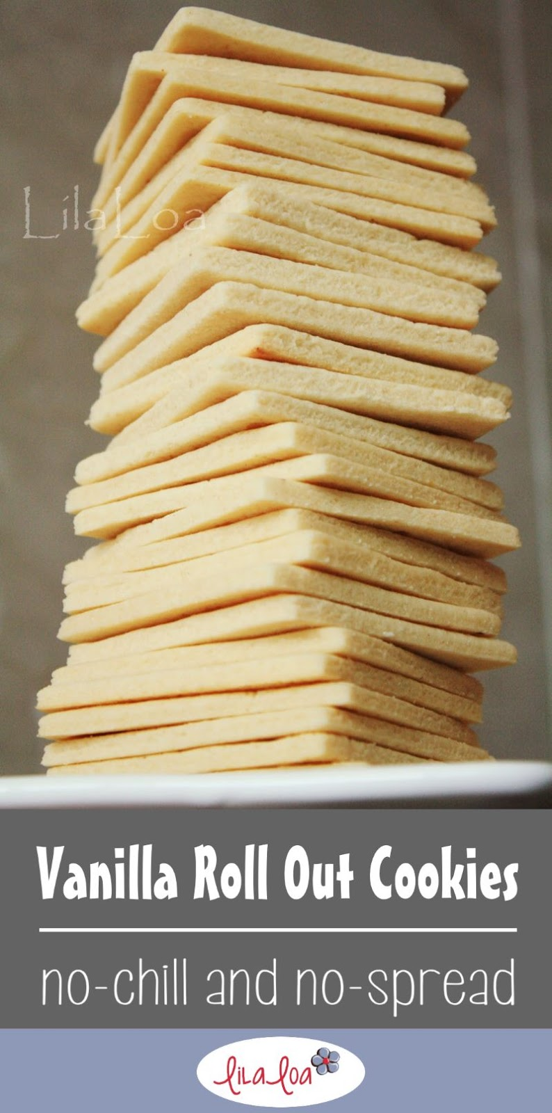 Sharp edged sugar cookies perfect for making decorated cookies