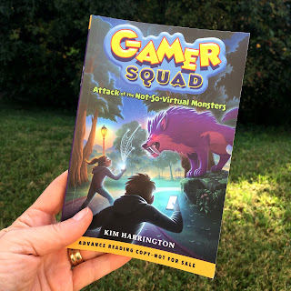 Book review by Julie Overpeck of Gamer Squad #1: Attack of the Not-So-Virtual Monsters by Kim Harrington