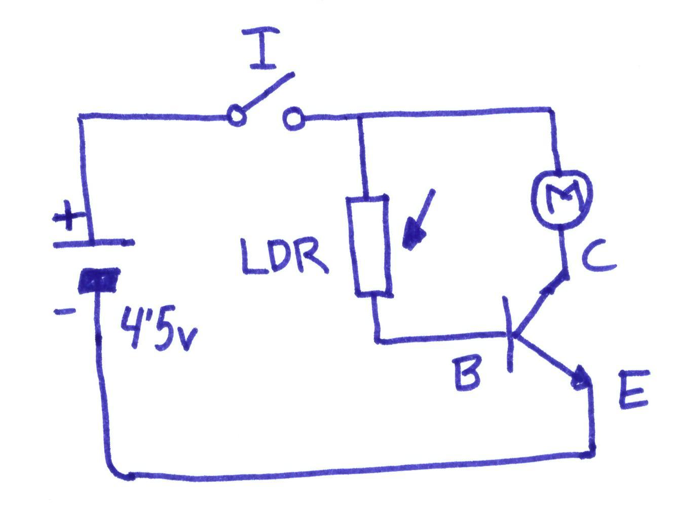 Circuito Transistor : Proyectos de tecnologÍa: cochecillo con célula fotoeléctrica y