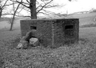 Photograph of a A type 24 pillbox just off Swanley Bar Lane in the fields of the Royal Veterinary College Image from Jim Apps