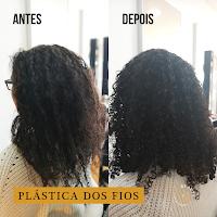 Plástica dos Fios cabelos crespos