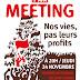Meeting NPA jeudi 24 novembre : « Nos vies, pas leurs profits »