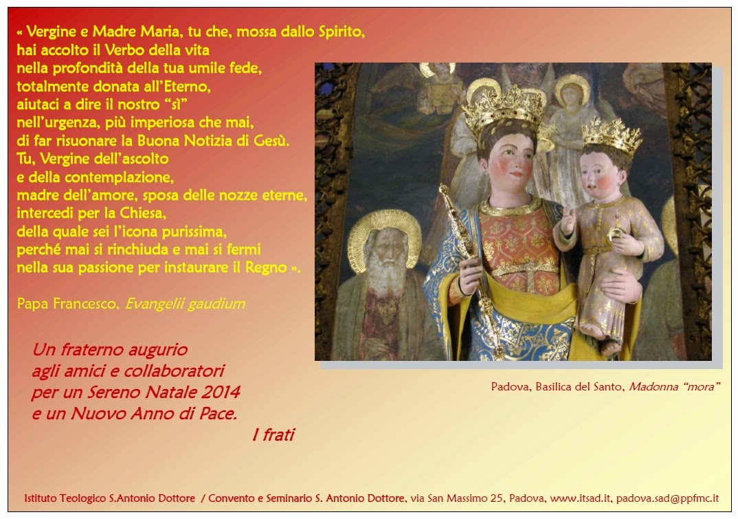 Auguri Di Natale Per Un Dottore.Istituto Teologico Sant Antonio Dottore Auguri Natalizi
