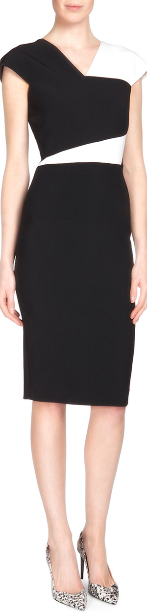 Roland Mouret Beadle Stretch Crepe Sheath Dress