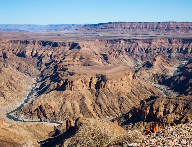 Xvlor Fish River Canyon Park is spectacular gorge in southern Namibia