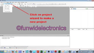project wizard in avr studio 4