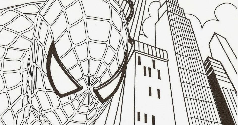 Hombre Araña O Spiderman Para Pintar: Dibujos Para Colorear: Dibujo Para Pintar De Spiderman
