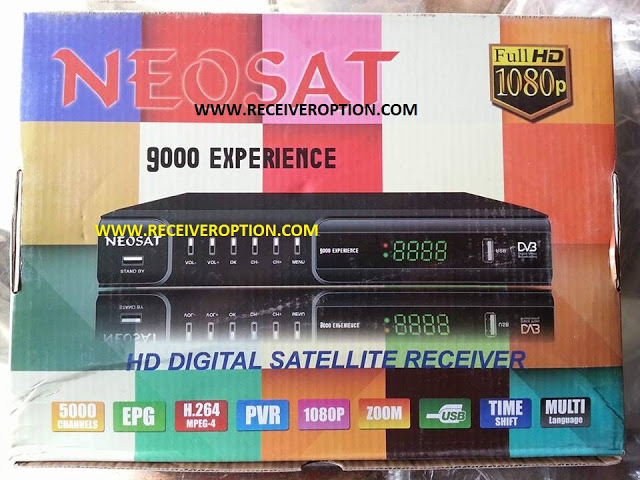 NEOSAT 9000 EXPERIENCE HD RECEIVER POWERVU KEY NEW SOFTWARE