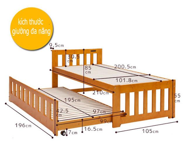 kích thước giường đa năng