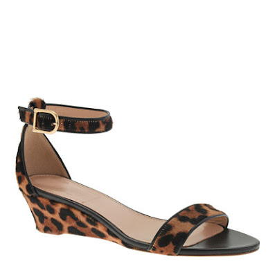 J.Crew Collection Lillian Calf Hair Low Wedges