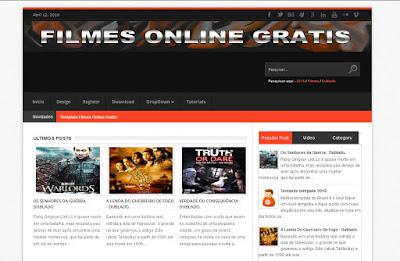 Template para Filmes Online