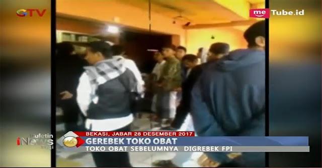 Beraksi Bak Polisi Gerebek Toko Obat, Anggota FPI Di Bekasi Ini Malah Jadi Tersangka !! Ini Videonya