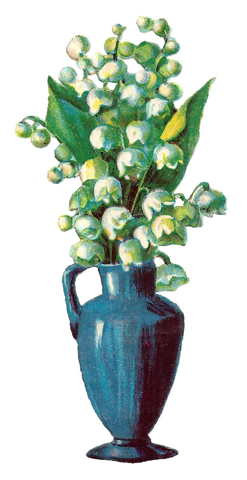 Antique images free printable flower vase wildflower artwork vintage flower vase clip art reviewsmspy