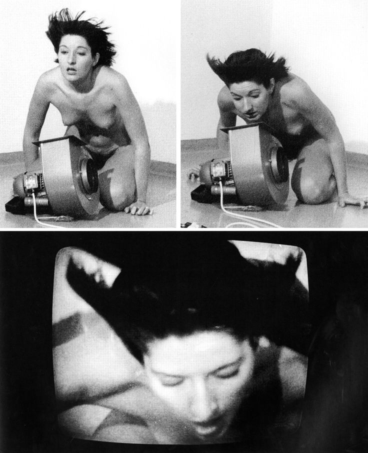 Abramović instructed the cameraman to zoom in closely on her face without showing the fan (as seen in the final image), so that the audience would be unaware of her unconscious state, and less likely to intervene on her behalf.