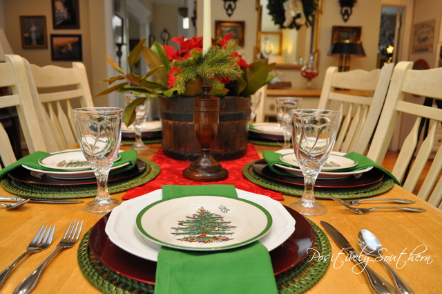 Breakfast Table with Spode Christmas Tree