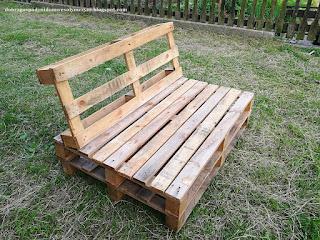 ławka z palet DIY