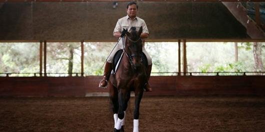 Prabowo Akan Tunggangi Kuda ke TPS 41 Bojongkoneng