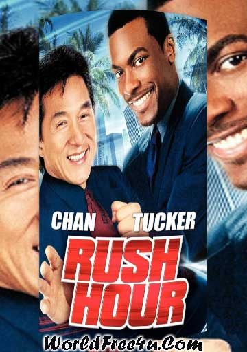 Poster Of Rush Hour (1998) Full Movie Hindi Dubbed Free Download Watch Online At worldfree4u.com