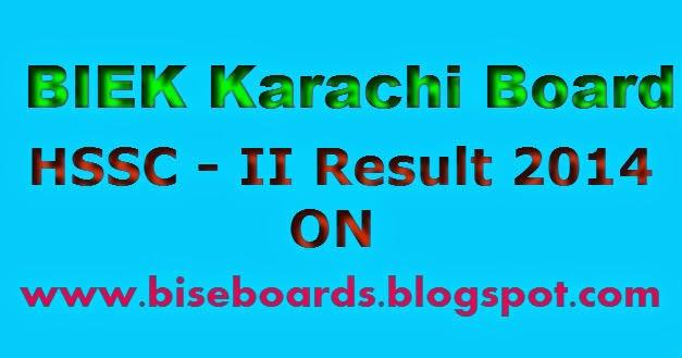 Pakistani Boards Results: Biek Karachi intermediate