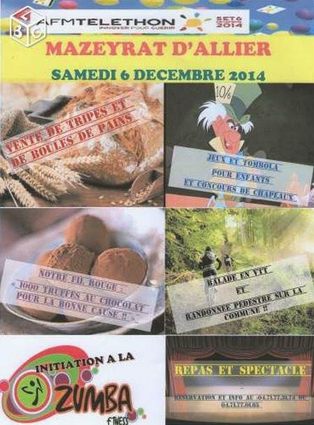 Téléthon 2014: Mazeyrat d'Allier, 03