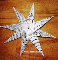 Zentangle Origami Stern Winkler  Weihnachten Christmas Star