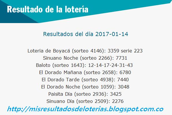 Resultado-del-chance-y-la-loteria-Enero 14 2017