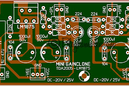 Membuat Power Mini amplifier Gain Clone dengan LM1875 dan TDA 2005