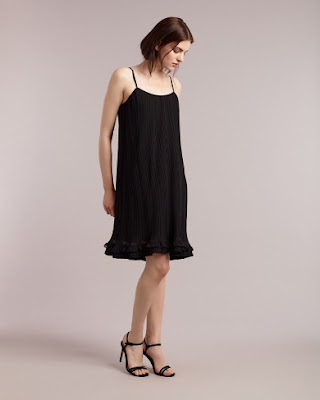 Atterley Road Black Pleated Cami Dress
