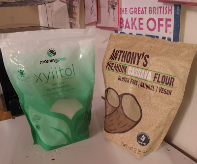 Morning Pep xylitol and Anthony's Premium Cassava Flour