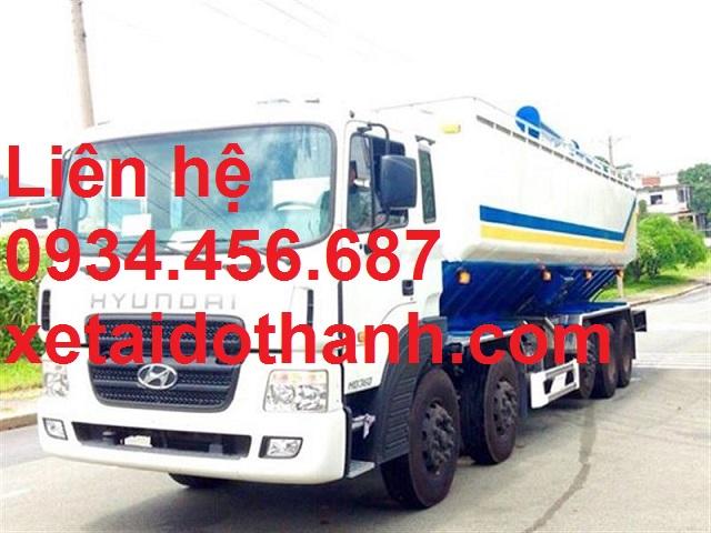 Giá lăn bánh xe 5 chân Hyundai HD360 chở thức ăn gia súc