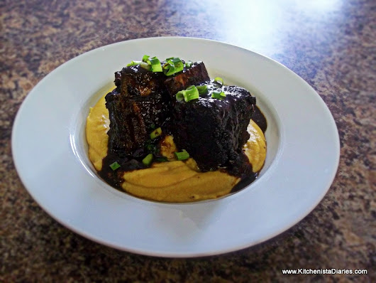 Braised Jerk Beef Short Ribs in Coffee & Red Wine Reduction Sauce