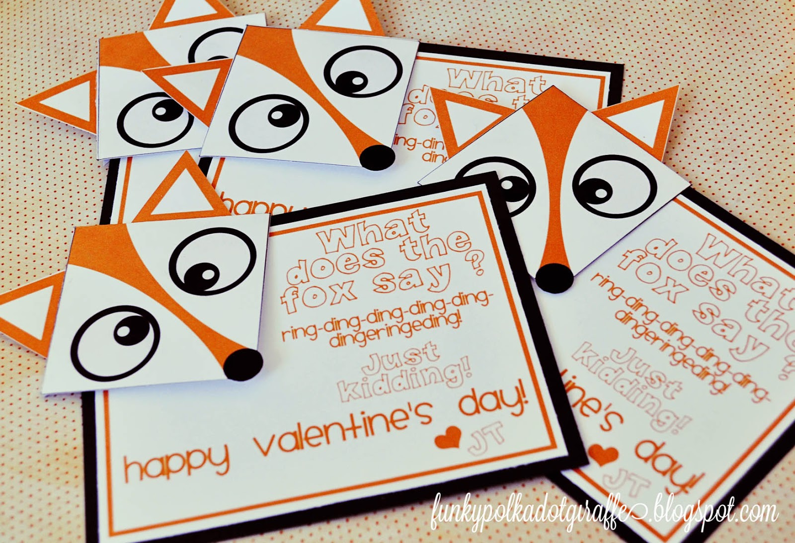 Funky Polkadot Giraffe: Valentine Idea: What Does the Fox ...
