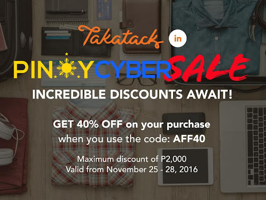 Chix & Tell: PINOY CYBER SALE STARTS TODAY! Get ready to attack Takatack,Paymaya and Freenet!
