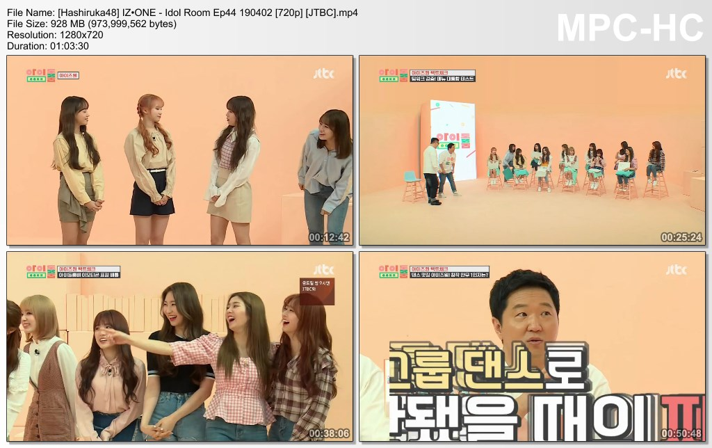 IZ*ONE - Idol Room Ep44 190402 (JTBC) - Hashiruka48