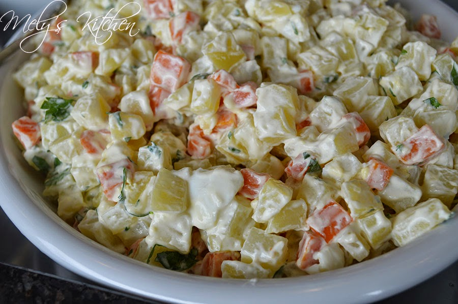 Potato and Carrot Salad - Mely\'s kitchen