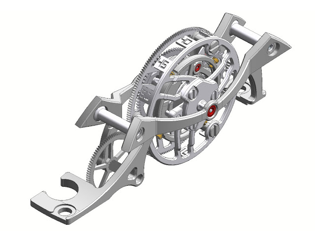 The Tourbillon cage of the Cyrus Klepcys Vertical Tourbillon