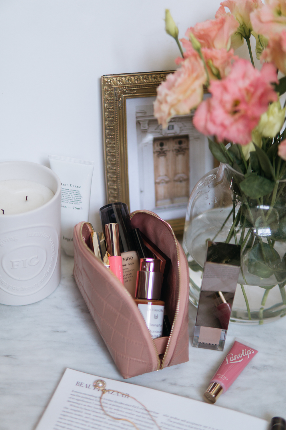 makeup-bag-routine-French-inspired-beauty-photography-Barely-There-Beauty-blog