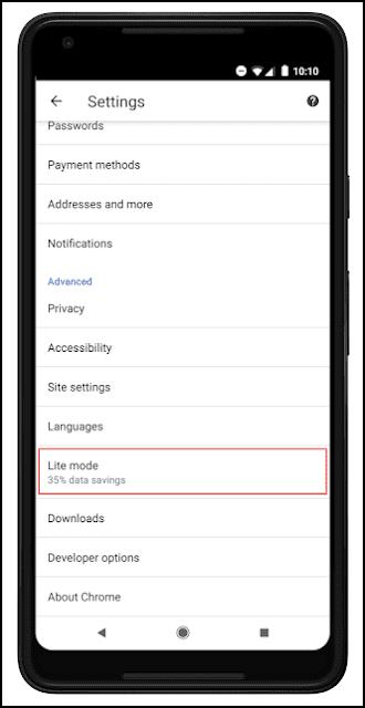 غوغل تطلق ميزة Lite Mode لتصفح المواقع بدون استهلاك رصيد الأنترنت في هاتفك وإليك طريقة تفعيلها