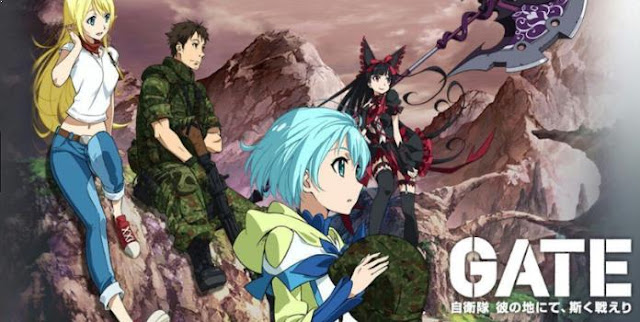 Gate: Jieitai Kanochi nite, Kaku Tatakaeri - Daftar Anime Fantasy Terbaik Sepanjang Masa