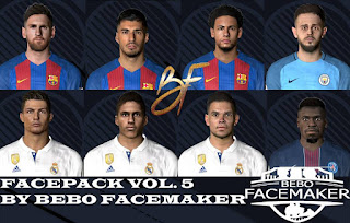 PES 2017 Facepack Vol.5 by Bebo Facemaker