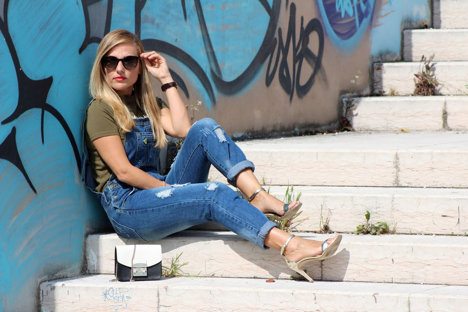 Eniwhere Fashion - Shein denim overall outfit