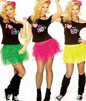 80sfashion info  Quick and Easy 80s Skirt and Shirt Costumes 80s Layered Petticoat and Tee Costumes