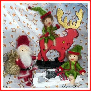 Święty Mikołaj i jego elfy